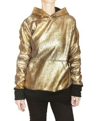 Trosman - Metallic Fleece Sweatshirt - Lyst