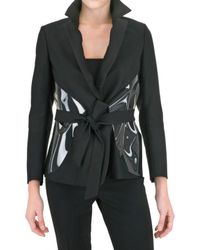 Saint Laurent | Black Wool Silk Gabardine Jacket | Lyst