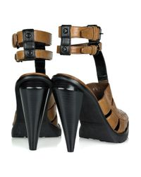 Alexander Wang - Brown Abbey Ankle-strap Leather Sandals - Lyst