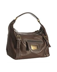 Dolce & Gabbana | Brown Leather Hobo Shoulder Bag | Lyst