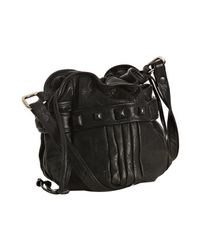 Junior Drake | Black Leather Studded Faren Bucket Bag | Lyst