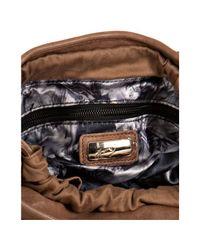 Junior Drake - Brown Tan Leather Studded Faren Bucket Bag - Lyst