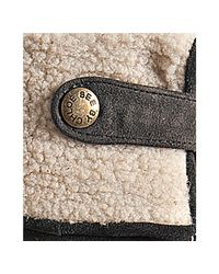 See By Chloé | Gray Grey Suede Shearling Wedge Boots | Lyst