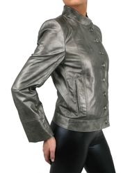 Ann Demeulemeester Blanche - Metallic Leather Jacket - Lyst
