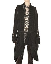 Ann Demeulemeester | Black Long Alpaca Knit Cardigan Sweater | Lyst
