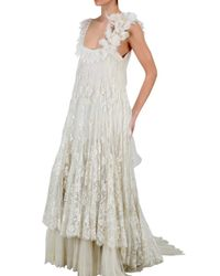 Anne Valerie Hash - White Limit.ed Lace Wedding Dress - Lyst