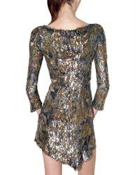 Balmain - Metallic Embroidered Destroyed Dress - Lyst