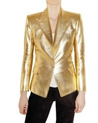 Balmain | Soft Metallic Nappa Leather Jacket | Lyst