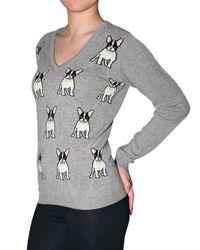 Beayukmui - Gray Dog Cashmere Knit Sweater - Lyst