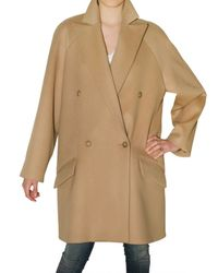 Chloé - Natural Wool and Cashmere Coat - Lyst