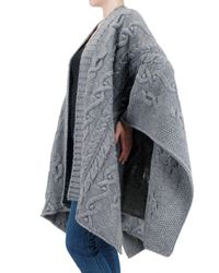 Closed - Gray Knitted Cape Sweater - Lyst