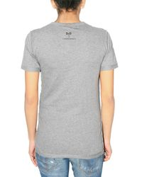 Dolce & Gabbana | Gray Eva Herzigova Print Jersey T-shirt | Lyst