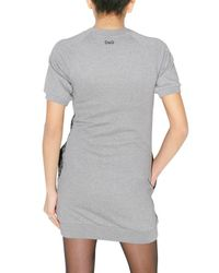 Dolce & Gabbana | Gray Fleece and Lace Dress | Lyst