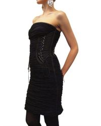 Dolce & Gabbana | Black Silk Tulle Ghepierre Dress | Lyst