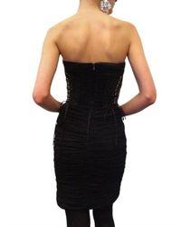 Dolce & Gabbana - Black Silk Tulle Ghepierre Dress - Lyst