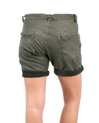 DROMe - Gray Loose Fit Leather Shorts - Lyst