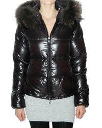 Duvetica - Black Adhara Fur Down Jacket - Lyst