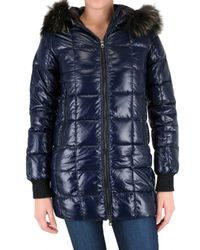 Duvetica | Blue Cirene Fur Long Down Jacket | Lyst