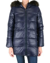 Duvetica | Blue Kappa Long Furr Down Jacket | Lyst