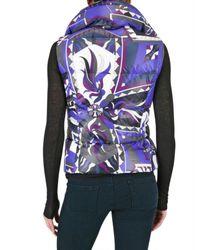 Emilio Pucci - Purple Printed Nylon Vest Down Jacket - Lyst