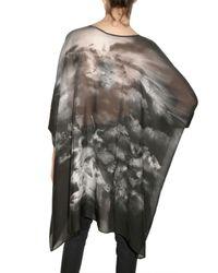Emma Cook | Black Swan Print Chiffon Kaftan Dress | Lyst