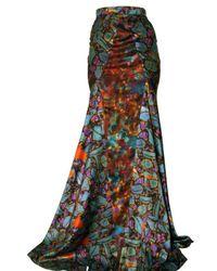 Erdem | Multicolor Silk Satin Skirt | Lyst