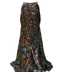 Erdem - Multicolor Silk Satin Skirt - Lyst