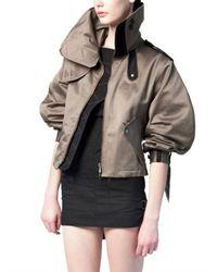 Eudon Choi | Gray Cotton Satin Jacket | Lyst