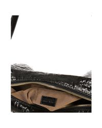 Fendi - Black Zucca Quilted Patent Leather Crossbody Bag - Lyst