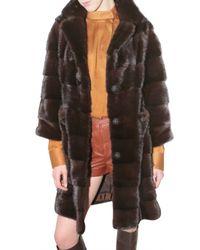 Ferragamo | Brown Mink Fur Coat | Lyst