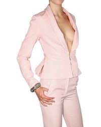 Francesco Scognamiglio | Pink Stretch Wool Gabardine Jacket | Lyst