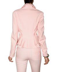 Francesco Scognamiglio - Pink Stretch Wool Gabardine Jacket - Lyst