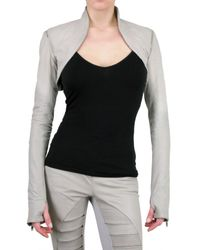 Gareth Pugh | Gray Bolero Leather Jacket | Lyst