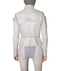Gareth Pugh - Gray Multi Zip Leather Jacket - Lyst
