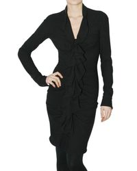Givenchy | Black Ruched Short Sleeve Dress | Lyst