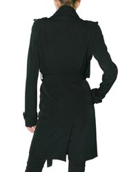 Givenchy - Black Wool Grain De Poudre Trench Coat - Lyst