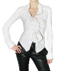 Givenchy | White Ruffle Shirt | Lyst