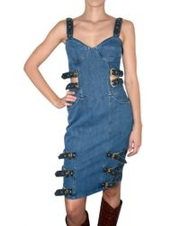 House of Holland | Blue Denim Buckle Dress | Lyst