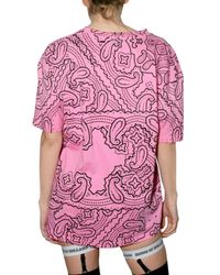 House of Holland - Pink Cotton Jersey T-shirt - Lyst