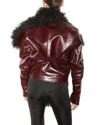 Jean-Pierre Braganza | Black Mongolian and Leater Jacket | Lyst