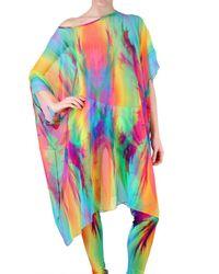 Jean-Pierre Braganza | Multicolor Rainbow Explosion Georgette Dres | Lyst
