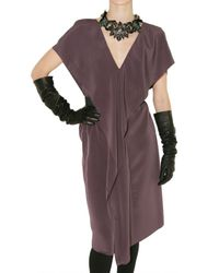 Lanvin - Purple Crepe Techno Dress - Lyst