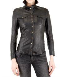 Les Soeurs | Black Leather Shirt | Lyst