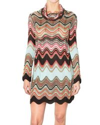 M Missoni - Multicolor Viscose and Merino Woven Mini Dress - Lyst
