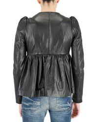 Manoush - Black Studded Leather Jacket - Lyst