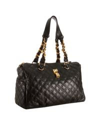 Marc Jacobs | Black Quilted Leather Anabela Chain Shoulder Bag | Lyst