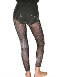 Marjan Pejoski | Black Tulle Stretch Embroidered Leggings | Lyst