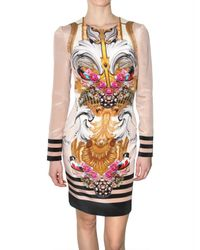 Mary Katrantzou | Multicolor Silk Crepe Mantel Rose Dress | Lyst