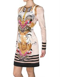 Mary Katrantzou - Multicolor Silk Crepe Mantel Rose Dress - Lyst