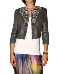 Matthew Williamson | Metallic Liquid Sequin Embroidered Jacket | Lyst